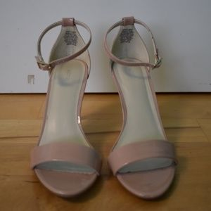 Nude/Light Pink Open-Toed Ankle Strap Heel